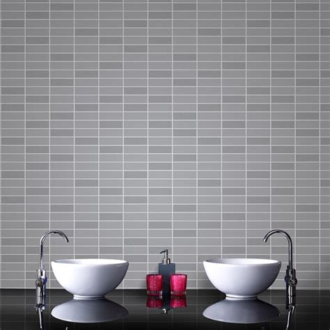 bathroom wallpaper tile effect graham brown tile effect pattern grey glitter vinyl