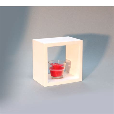 Wall Shelf Cubes by White Wall Cube Shelf 15x15x10cm Mastershelf