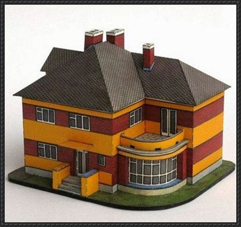 free paper model buildings downloads 1920s european villa free building paper model download