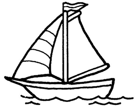 boat outline coloring home - Boat Outline Picture