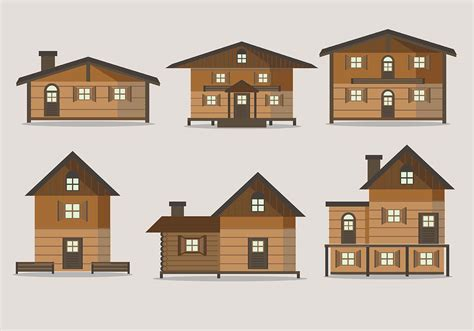 chalet house vectors   vector art stock