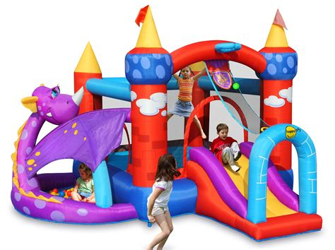 Happy Hop 9004b Air Baloon Hoop Bouncer Jump 1 happy hop products jumping castles water slides