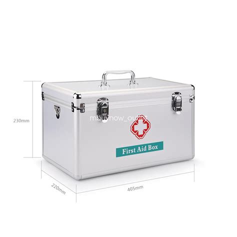 Portable Medicine Storage Box aid kit cabinet aluminum portable metal