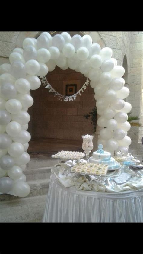 Baptismal Balloon Decor by 17 Best Images About Baptism Ideas On Baptism