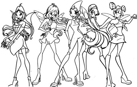 winx coloring pages winx free coloring pages