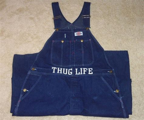 Vintage Kitchen Furniture vintage 90 s 2pac thug life blue jean overalls dickies