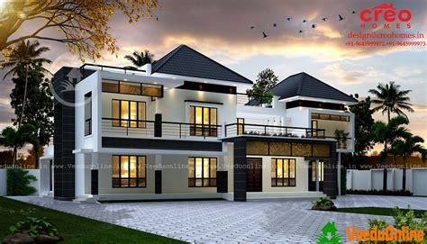 Beautiful Interior Homes by 3688 Sq Ft Double Floor Contemporary Home Design Veeduonline