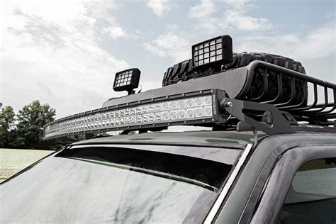 jeep grand light bar 50in curved led light bar windshield mounting