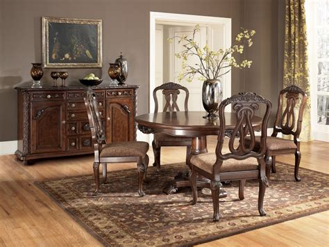 ashley dining room chairs buy north shore round dining room set by millennium from