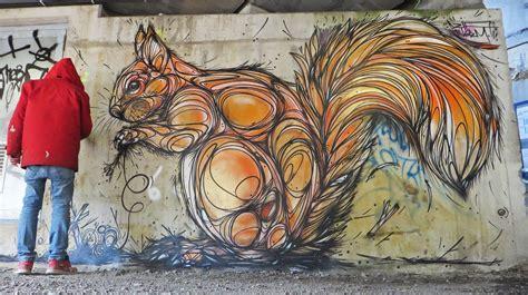 frenetic animal murals  dzia swirl  life