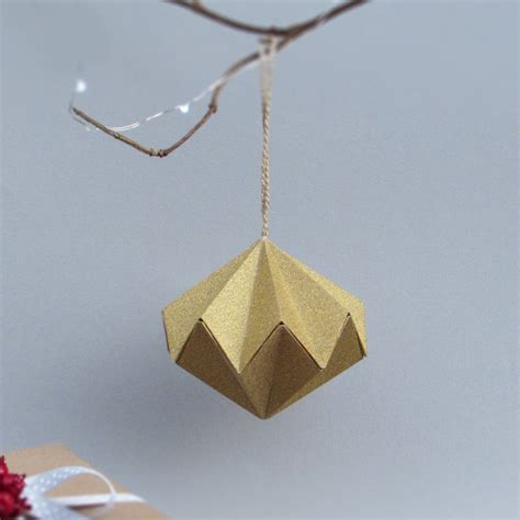 Metallic Origami Paper - metallic origami paper ornament by the origami