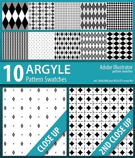 adobe illustrator cs2 pattern swatches 10 argyle seamless pattern swatches vector graphicriver
