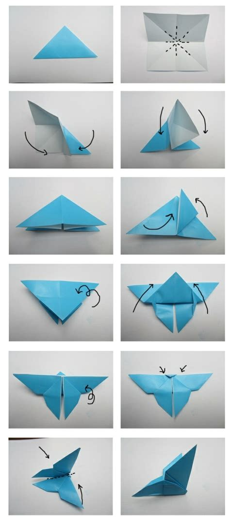 Origami folding flowers stars and animals as nursery