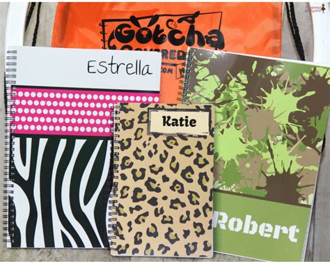School Supplies Giveaway Near Me - personalized school supplies with gotcha covered notebooks mommy katie