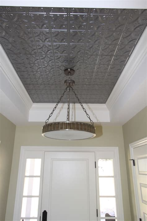 tin ceiling how to make your tray ceiling feel like home
