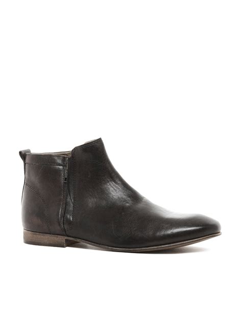 asos chelsea boots mens asos chelsea boots with zip in brown for lyst