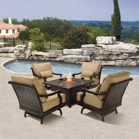 patio furniture sets with pit patio patio pit set home interior design
