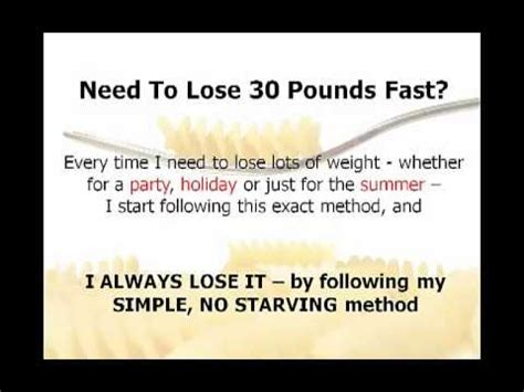 How To Shed Pounds Quickly by How To Lose 30 Pounds Unbelievably Simple 7 Day Weight Loss Diet Shows How To Lose 30 Pounds