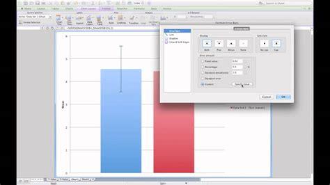 excel layout error bars adding standard error bars to a column graph in microsoft
