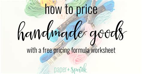 How To Price Handmade Items - etsy pricing formula how to price for handmade paper