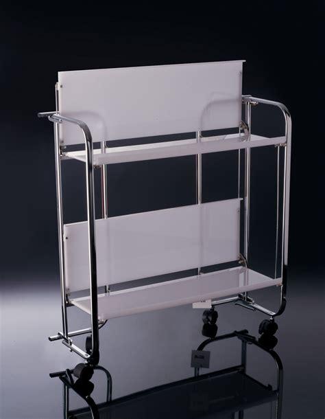 mensola pieghevole carrello mensola pieghevole metallo cromato e plexiglass