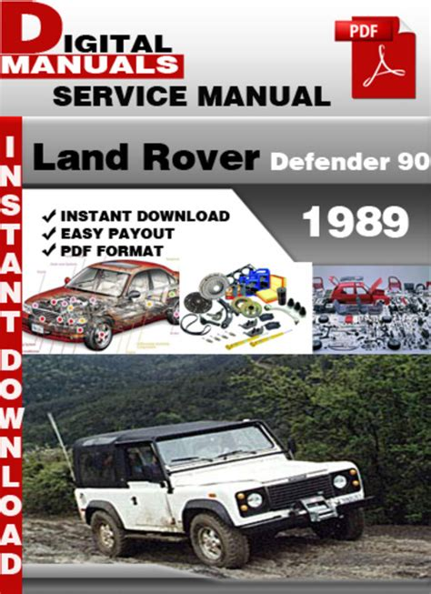 car owners manuals free downloads 1994 land rover discovery security system land rover defender 90 1989 factory service repair manual downloa