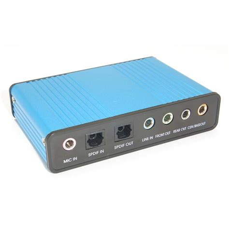 Usb Sound Card Laptop usb 6 channel 5 1 optical audio external sound card spdif