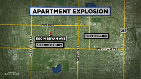 seattle explosion map 3 injured in explosion near fort collins 171 cbs denver