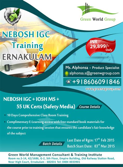 Nebosh Course In Cochin With Valuable Offer
