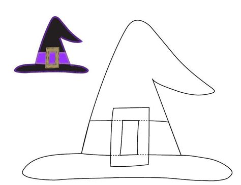 paper witch hat template craft templates ucreate applique