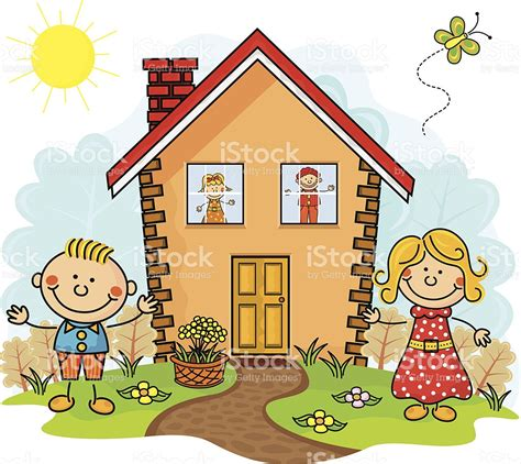 haus comic my house stock vector more images of