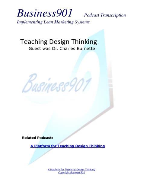 design thinking podcast teaching design thinking
