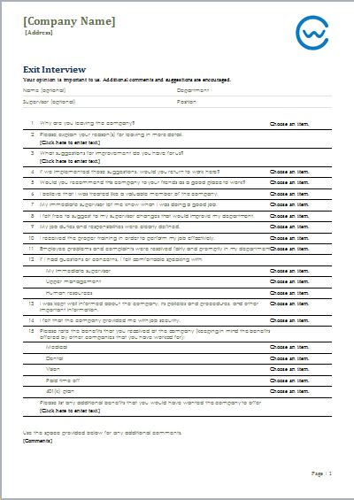 Exit Forms Templates by Leave Exit Form Template Ms Word Word