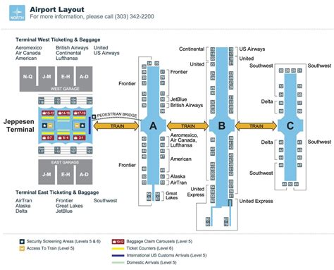 denver international airport map denver airport map my
