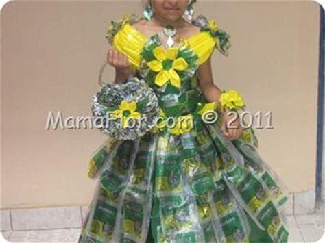 como hacer vestidos con reciclaje 48 best images about vestidos hechos con reciclaje on