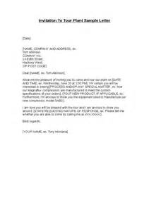 invitation to tour plant sample letter hashdoc