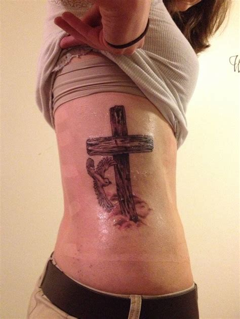 cross tattoos with doves pretty cross and dove tattoos creativefan