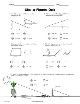 Similar Figures Worksheet 7th Grade by Similar Figures Quiz By Maisonet Math Middle School