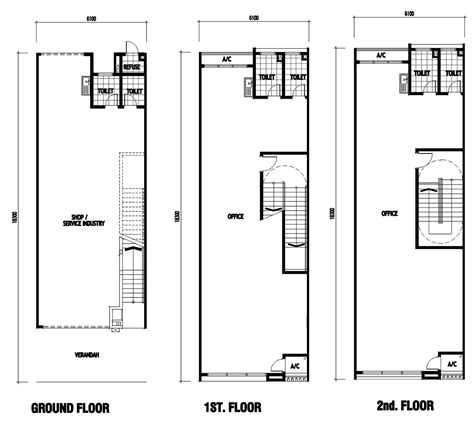 building floor plan 2 storey commercial building floor plan