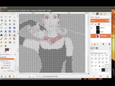 Creating Custom Latch Hook Pattern Of Audrey Hepburn Youtube Latch Hook Design Templates