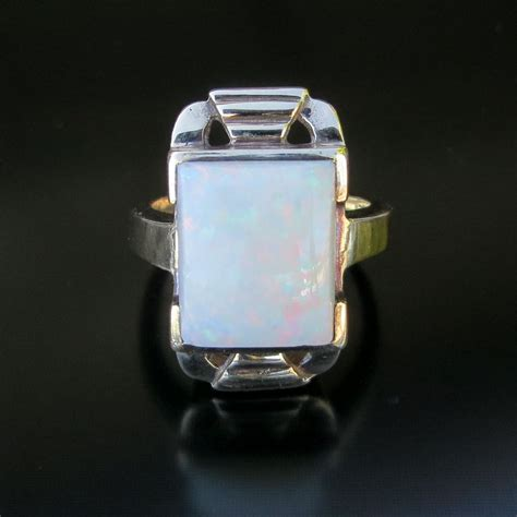 deco opal ring s circa 1020 s deco 10k opal ring from the vault