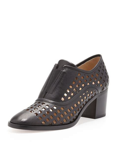 reed krakoff oxford shoes reed krakoff perforated slip on oxford in black lyst