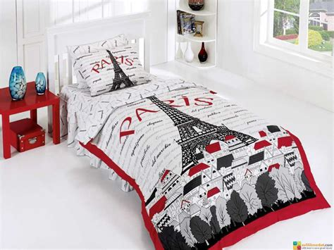 paris twin bedding paris eiffel tower love twin bedding duvet cover set 3 pcs