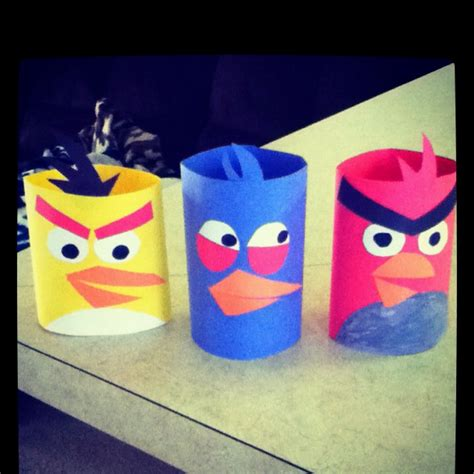 Crafts Made With Construction Paper - me and my toddler made angry birds out of construction