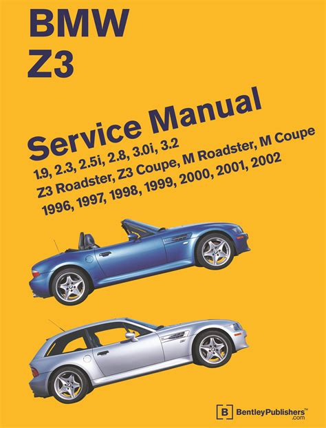 free online auto service manuals 2001 bmw z3 navigation system front cover bmw repair manual z3 roadster z3 coupe m roadster m coupe 1996 2002 bentley