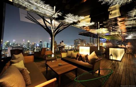 from dive bar to roof top bar to roof top pool in bangkok