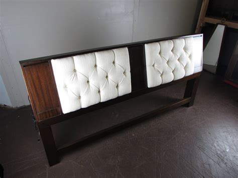 Headboard Reading Light Mahogany Headboard With Reading Lights And Armrest By Harvey Probber 1965 At 1stdibs