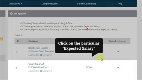 How To Answer On A Application How To Edit Quot Expected Salary Quot After Submitting