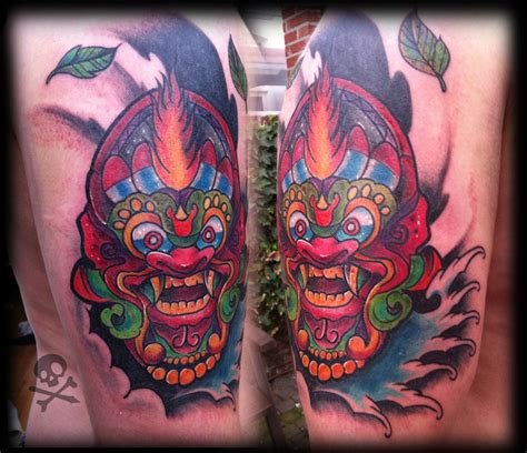 traditional bali tattoo designs balinese mask cover up by willemxsm on deviantart
