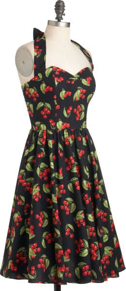 cherry tree dresses modcloth hide in the cherry tree dress in cherry lyst